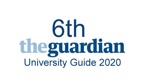 6th Guardian University ranking 2020
