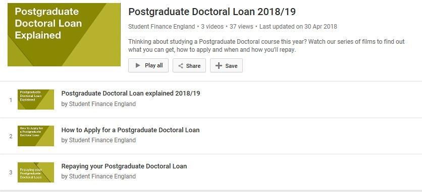 Postgraduate Doctoral Loan