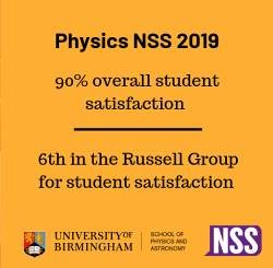 Physics and Astronomy 90% overall satisfaction 2019 NSS