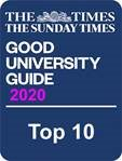Top 10 in The Times Good University Guide rankings