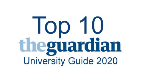 Top 10 Guardian University ranking 2020