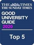 Top 5 in The Times Good University Guide rankings