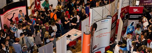 Autumn careers fair in the Great Hall