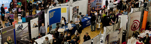 Students and presenters at the Science, Engineering and Technology recruitment fair 2011