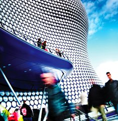 Shoppers outside Birmingham's Bullring