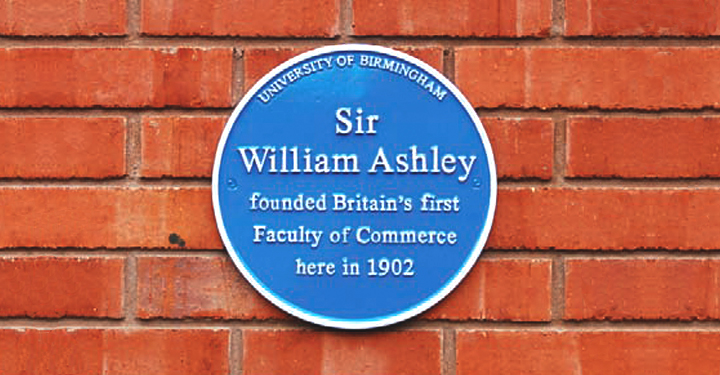 Sir William Ashley blue plaque