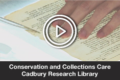 Conservation and Collections: Cadbury Research Library