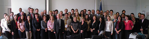 Photo of the speakers and attendees at the IEL 2012 conference