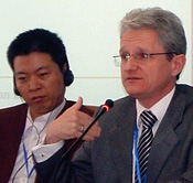 Photo of Professor Martin Trybus at the  2nd International Public Procurement Forum in Beijing.