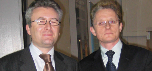 Photo of Professor Piet Eeckhout and Professor Martin Trybus