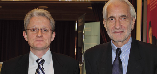 Photo of Professor Paul Craig and Professor Martin Trybus, IEL Annual Lecture 2010