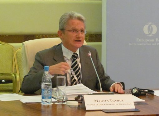 Professor Martin Trybus at the EBRD Business Forum in Astana