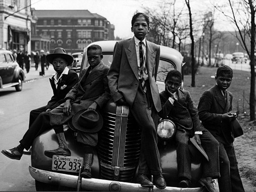 'Negro boys on Easter Morning. Southside, Chicago'