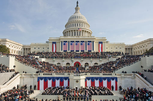 Obama's Presidential Inauguration - copyright US Government Works