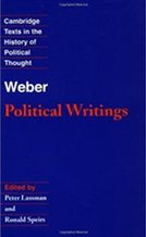Weber: Political Writings translated by Ronald Speirs