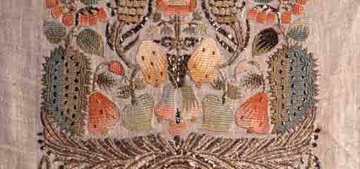 Picture of Ottoman embroidered towel, early nineteenth century, Birmingham Museums Trust
