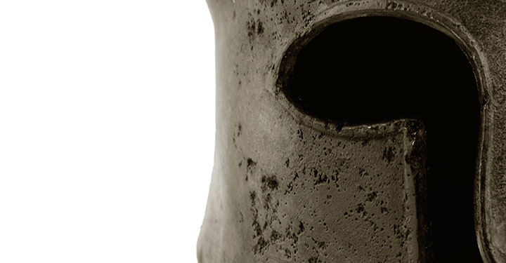 Detail from a Corinthian helmet