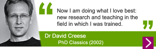 Dr David Creese, PhD Classics