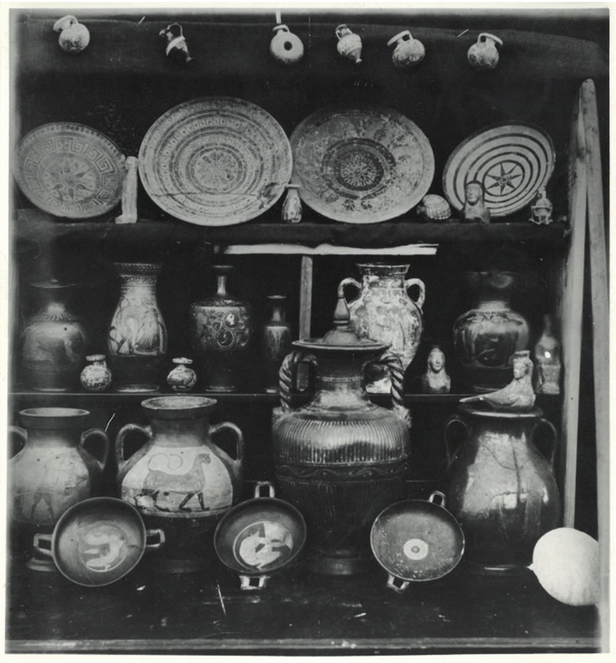 Display of the archaeology collection