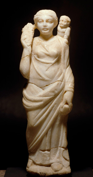Marble statuette from Syria. H 24 cm. Damascus, National Museum, inv.-no. 6028 / 13856. © akg-images / Interfoto AKG1379836.