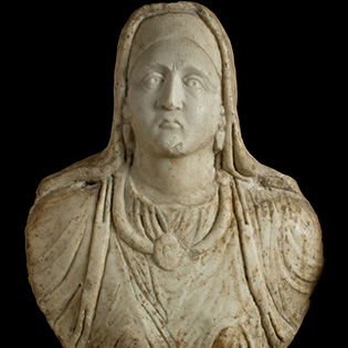 Marble bust of a woman from Klokot (Kosovo), post mid-2nd century CE.