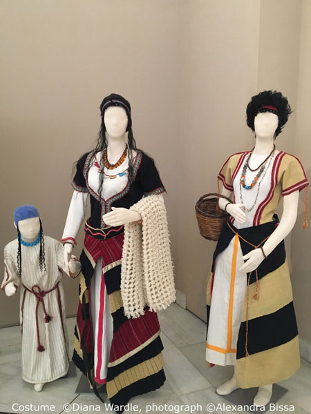 Reproduction Bronze Age Greek costume by CAHA Honorary Research Fellow Diana Wardle