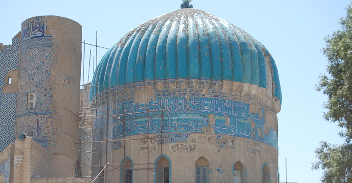 Abu Nasr Parsa shrine (15th century), Balkh, Afghanistan. Photo: A.Azad (2009)
