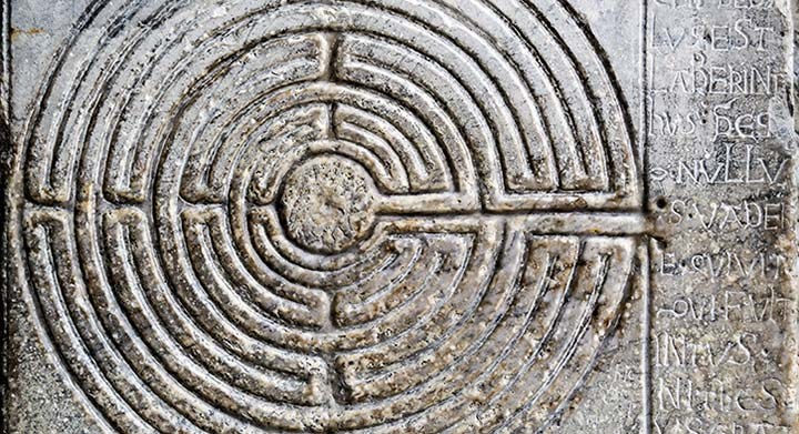 Medieval labyrinth from Lucca