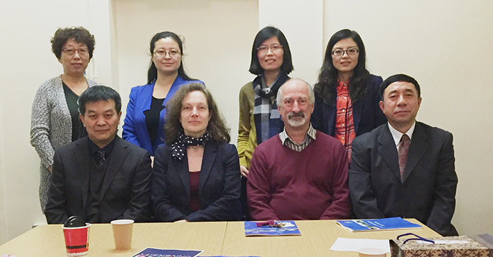 A delegation from Beihang University visiting the Centre for Corpus Research