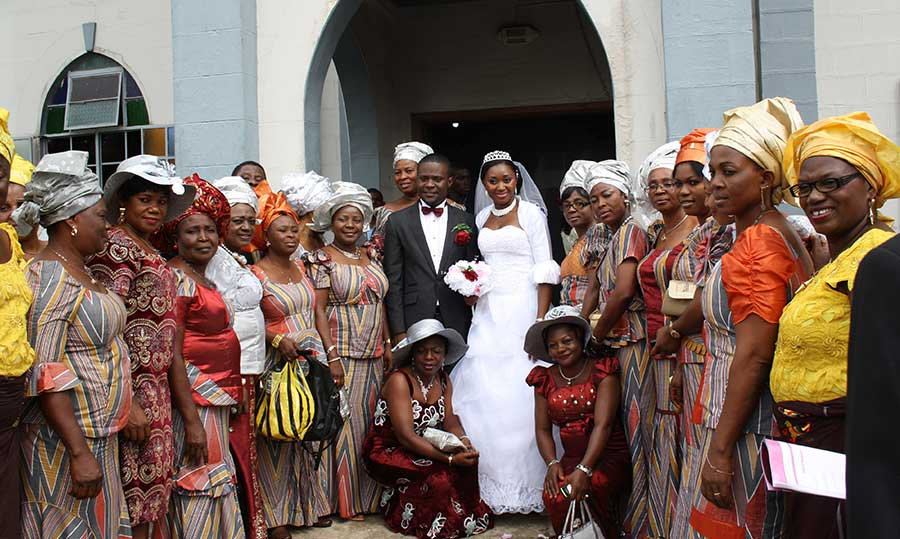 Photo of a wedding in Africa