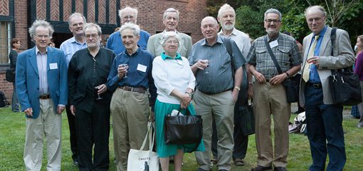 Alumni and ex members of staff at the reception of 5 Sept 2013