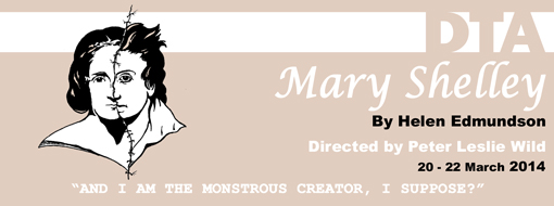 Banner for student production Mary Shelley