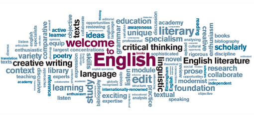 English department welcome sign