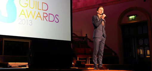 Ben Norris performing at the Guild Awards