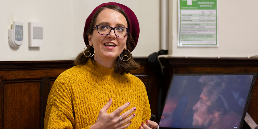 Dr Rachel Sykes' workshop on queer Christmas songs.