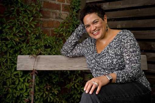 Photograph of poet and writer Jackie Kay
