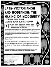 Poster for the Victorian and Modern symposium