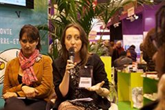 Dr Louise Hardwick at the Paris Book Fair
