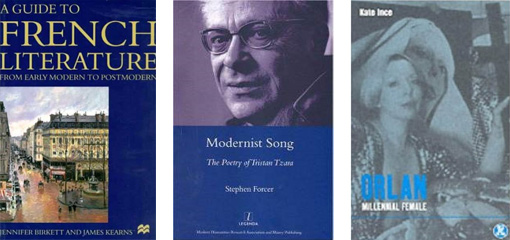 Photograph of three French book covers