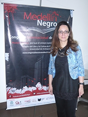 Shelley Godsland at the Medellin Negro Conference