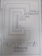 CCCS Annual Report Cover 1985-86
