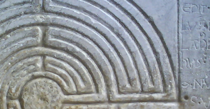Detail of a stone carving