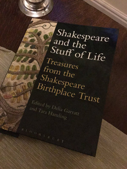 Book cover: Shakespeare and the stuff of life
