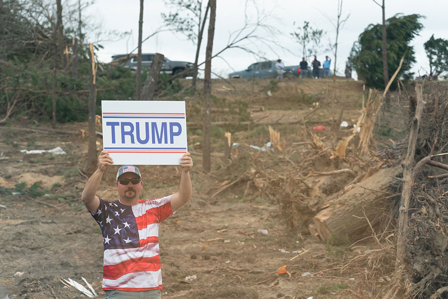 Trump supporter after the tornado