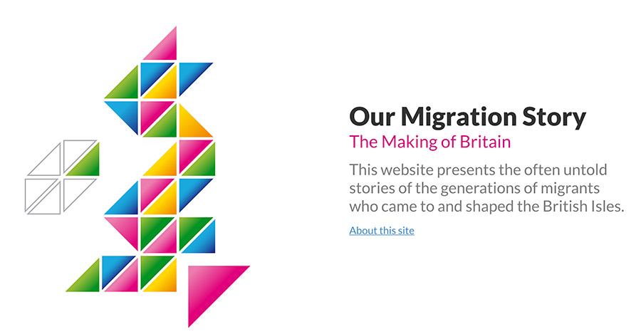 Screenshot of the Our Migration Story website
