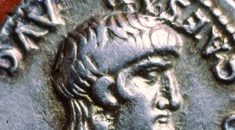 Photograph of a first century Roman denarius coin