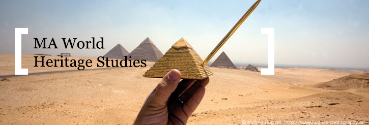 Photo of the Pyramids at Giza from Michael Hughes' Souvenirs collection