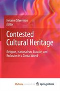 front cover of the book contested cultural heritage
