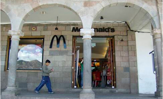 Image of the MacDonalds on the Plaza de Armas of Cuzco, Peru