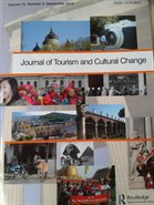 cover of journal of tourism and cultural change